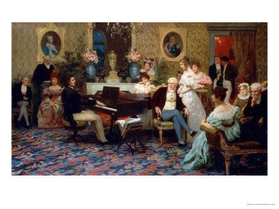 Chopin Playing the Piano in Prince Radziwill's Salon, 1887