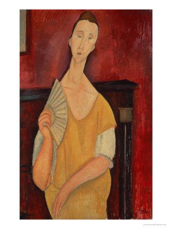 Woman with a Fan (Lunia Czechowska) 1919