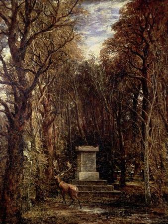 The Cenotaph to Reynold's Memory, Coleorton, circa 1833