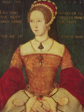 Portrait of Mary I or Mary Tudor (1516-58), Daughter of Henry VIII, at the Age of 28, 1544