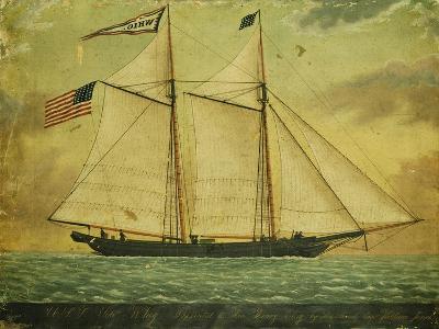 The Schooner Whig, American School, Mid 19th Century