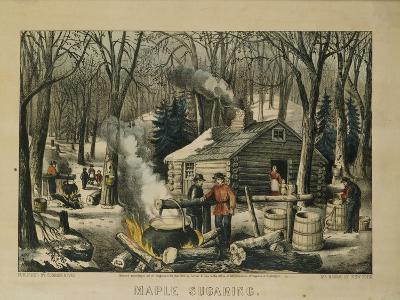 Maple Sugaring, Early Spring in the Northern Woods, 1872