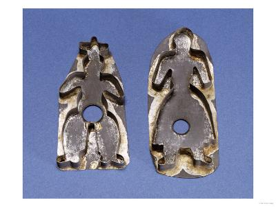 A Pair of Tinned Sheet Metal Cookie Cutters, Pennsylvania, 19th Century