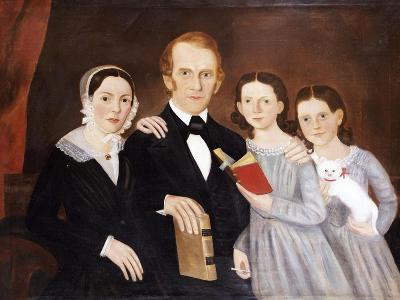 A Portrait of a Family, American School, Probably Massachusetts, circa 1820