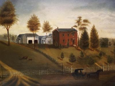 Farmstead Scene, American School, Late 19th Century