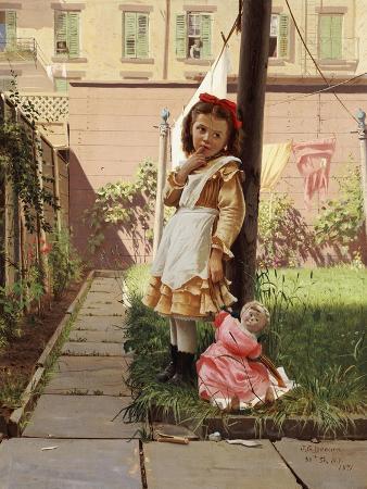 Young Girl in a New York Garden, 1871