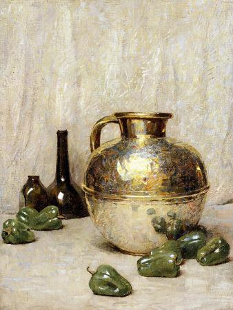 Still Life with Green Peppers and Jug