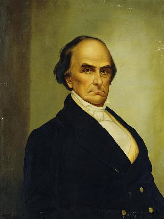 Portrait of U.S. Statesman and Lawyer, Daniel Webster (1782-1852)