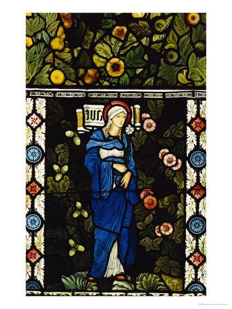 The Blessed Virgin Mary, for the East Window of St. Martin's Church, Brampton, Cumbria