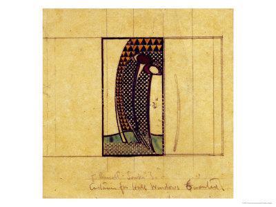 Design for Curtains for the Hall Windows, 1916-17 for W. J. Bassett-Lowke