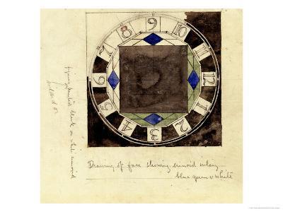 Design for Clock Face, 1917