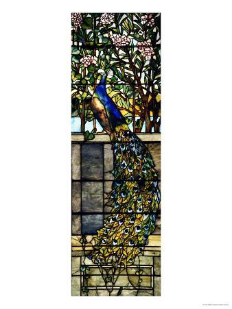 """Detail of Right Side of """"Twilight"""", a Leaded and Plated Glass Window, 1897"""