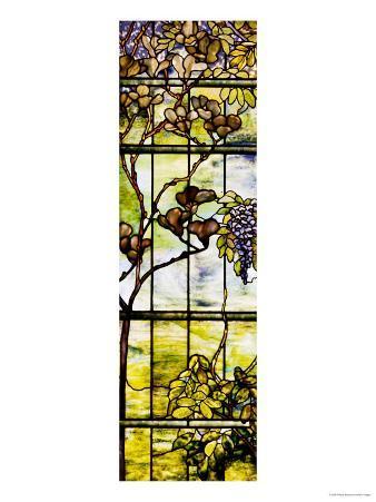 Fine Leaded Glass Triptych Window (Left Panel), circa 1908