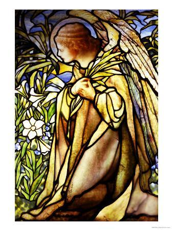 A Stained Glass Window of an Angel