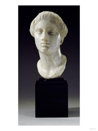 Greek Marble Head of a Woman, Tarentine, circa 4th-3rd Century BC