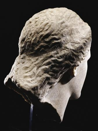 A Greek Marble Female Head from Behind, Classical Period, circa Mid 4th Century