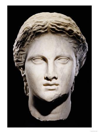 A Greek Marble Female Head, Classical Period, circa Mid 4th Century