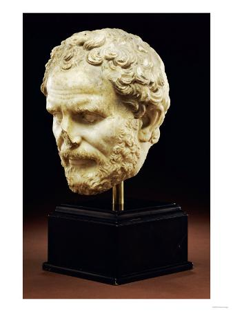 Roman Marble Portrait of Demos- Thenes, Early Imperial, circa 1st Century AD
