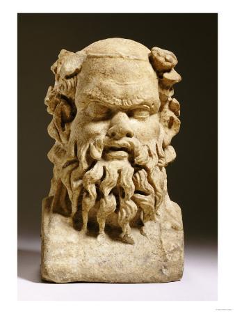 A Roman Marble Janiform Herm Satyr Head, circa 1st-2nd Century AD