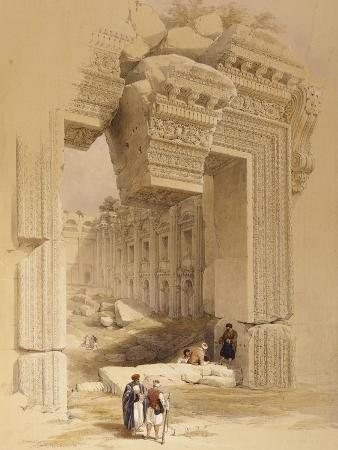 The Doorway of the Temple of Bacchus, Baalbec, 7th May 1839