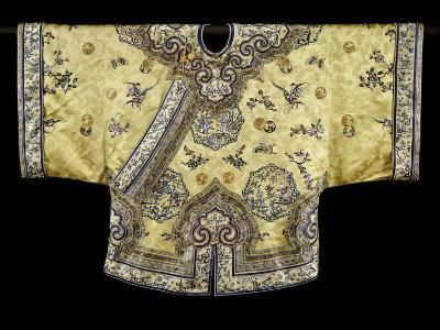 A Pale Yellow-Ground Silk-Embroidered Jacket, 19th Century