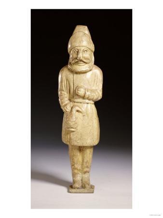 A Rare Straw-Glazed Figure of a Semitic Wine Merchant, Sui Dynasty, 6th Century AD