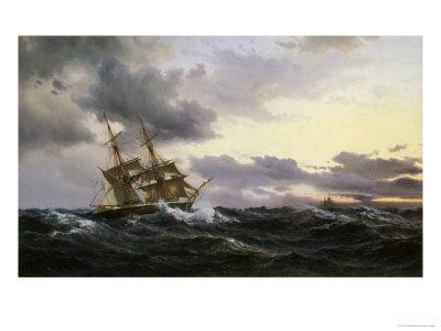 Sailing Vessels in a Stormy Sea, 1879