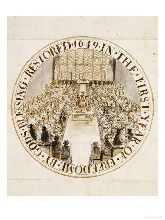 A Design for the Great Seal of England Under the Commonwealth, 1649