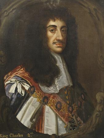 Portrait of King Charles II, Wearing Garter Robes