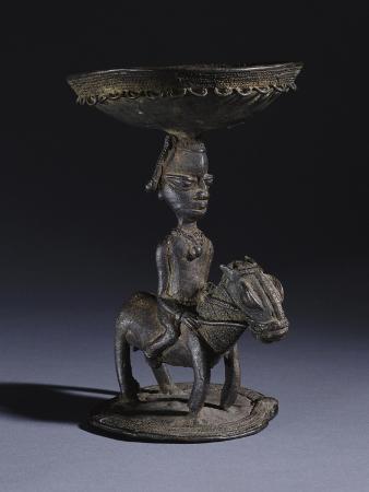 A Yoruba Bronze Ritual Vessel, Probably for Ifa Divination, 18th Century