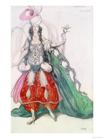 Costume Design for Scheherazade: Zobeide (Jane Marnac)