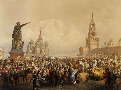 Red Square with St. Basil's Cathedral, Moscow, 1856