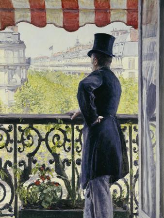 Man on a Balcony, Boulevard Haussmann, 1880