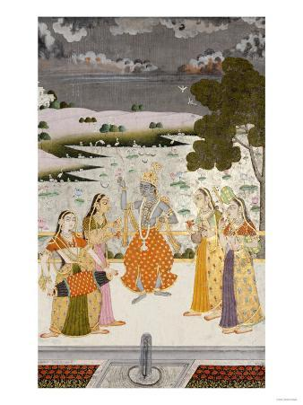 Krishna with the Gopis, Rajesthan, Possibly Bikaner, circa 1760