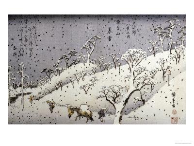 Evening Snow at Asuka Hill