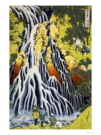 The Kirifuri Waterfall at Mt. Kurokami in Shimotsuke Province