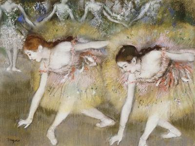 Dancers Bending Down