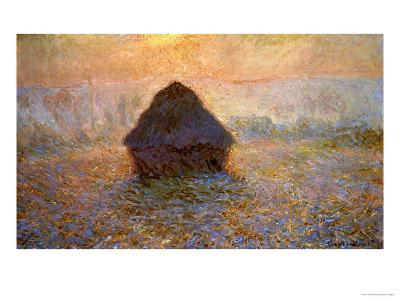 Haystacks, Sun on the Mist