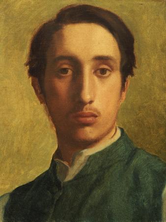 Degas in a Green Waistcoat, circa 1855-1856
