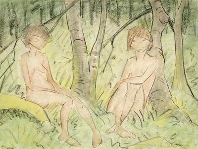 Two Women in the Forest, circa 1925