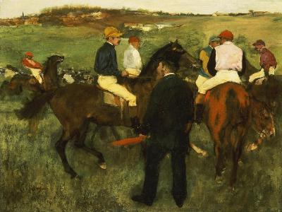 Racehorses (Leaving the Weighing), circa 1874-78