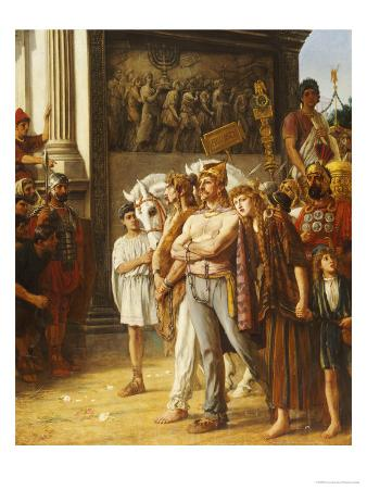 Caratacus Being Paraded by the Emperor Claudius, AD 50