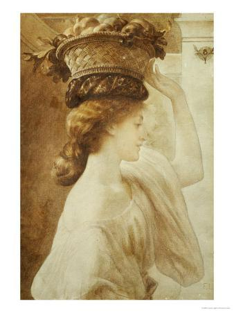 Eucharis, a Girl with a Basket of Fruit