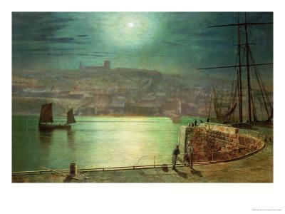 Whitby Harbour by Moonlight, 1870