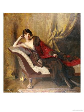 Portrait of Countess Michael Karolyi Reclining, Full Length, on a Divan