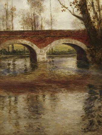 A River Landscape with a Bridge