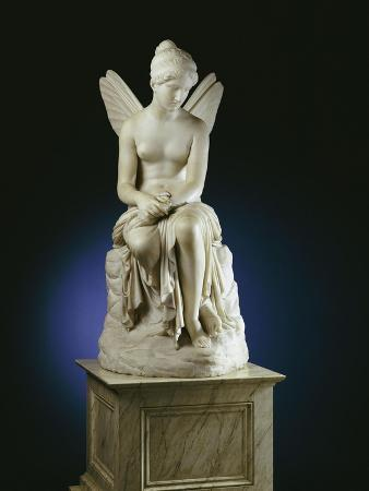 An Important Italian White Marble Figure of Psyche Abandoned, 1st Half 19th Century