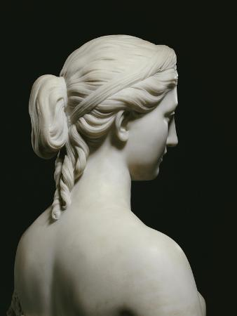 Fine American White Marble Bust of Proserpine, Hiram Powers, 19th Century