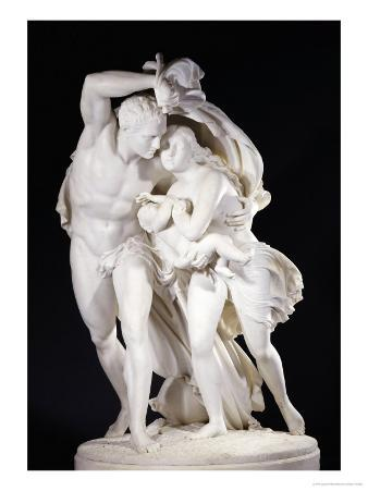 An Italian White Marble Group Entitled I Pompeiani, 19th Century