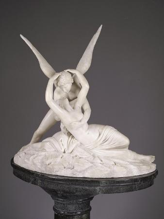 An Italian Alabaster Group Entitled Cupid and Psyche, Late 19th Century